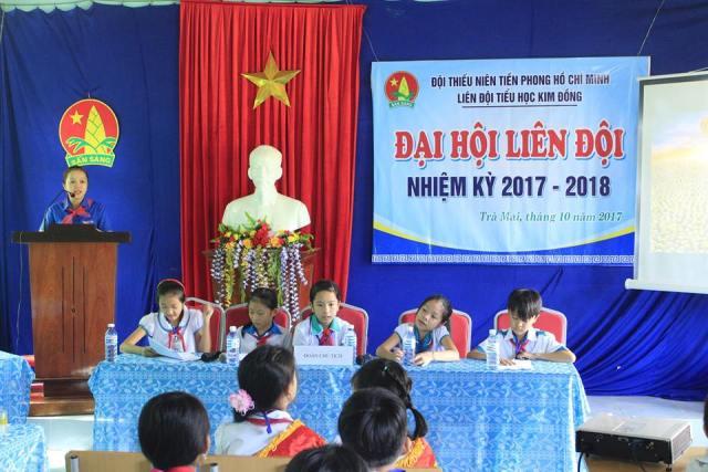 Liên đội TH Kim Đồng tổ chức điểm Đại hội Liên đội nhiệm kỳ 2017 - 2018